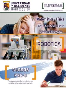 Tutorias, Pre-U, Robótica